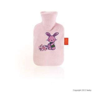 Fashy Wärmeflasche mit Flauschbezug für Kinder